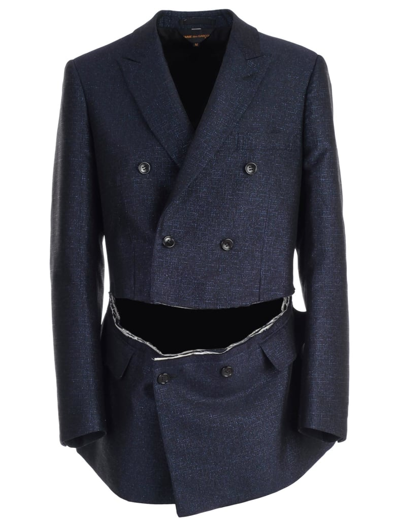 Comme des Garçons Double Breasted Jacket - Navy