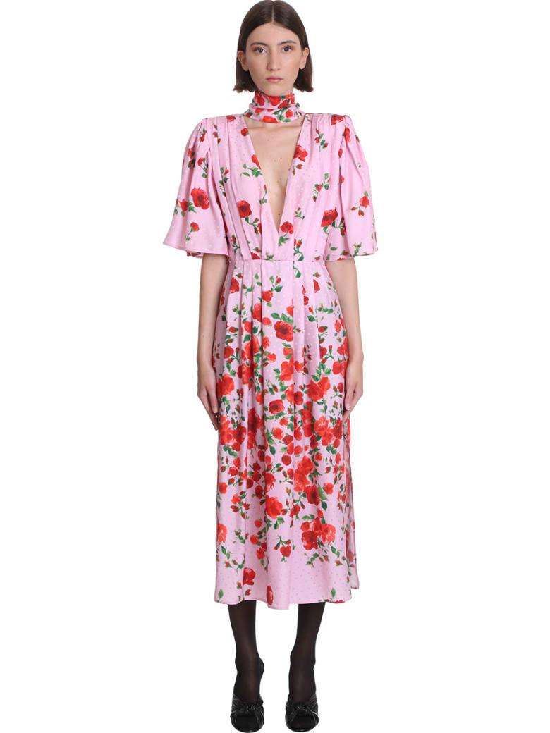 Magda Butrym Dress In Rose-pink Silk - rose-pink