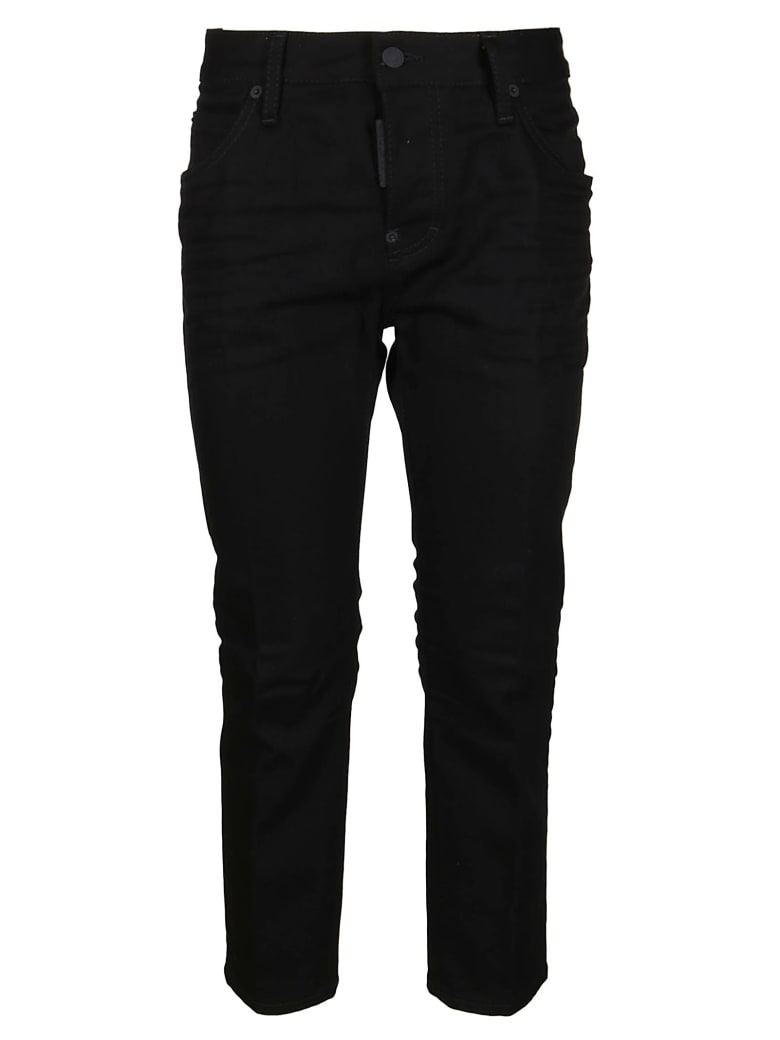 Dsquared2 Black Cotton Blend Trousers - Black