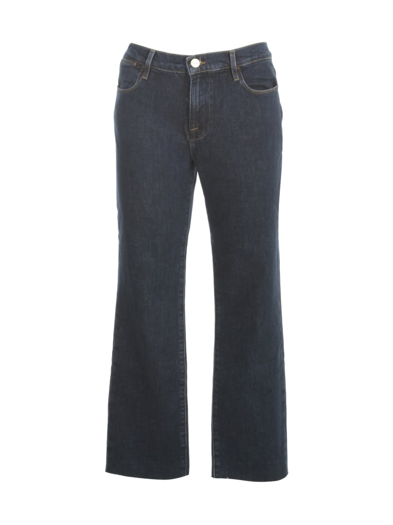 Frame Straight Jeans W/fringes On Bottom - Bronx