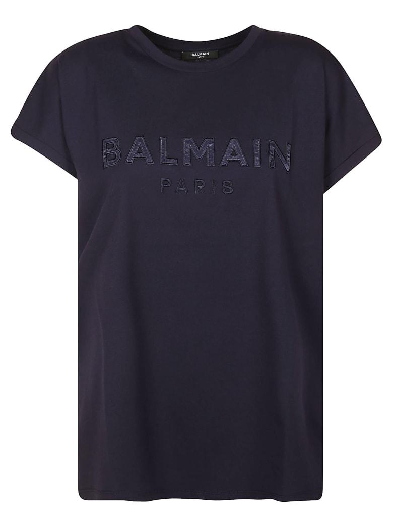 Balmain Logo Chest T-shirt - Blue