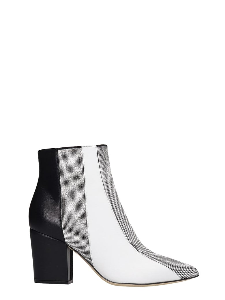 Sergio Rossi High Heels Ankle Boots In White Leather - white
