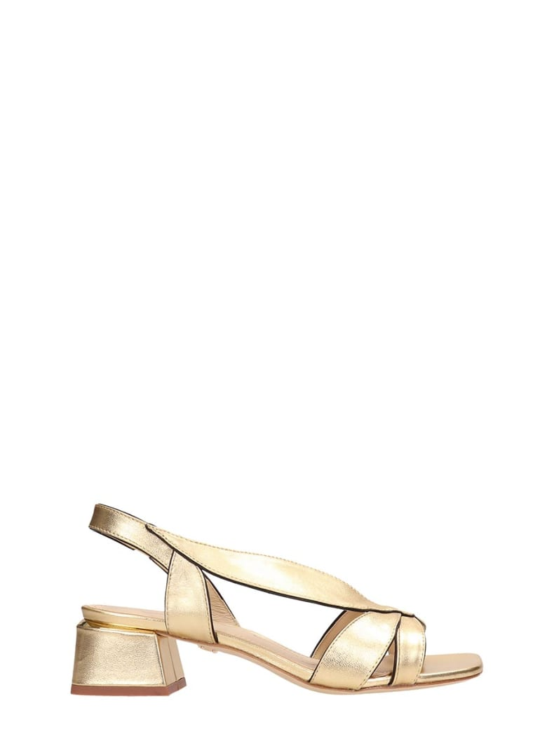 Lola Cruz Gold Patent Leather Sandals - gold