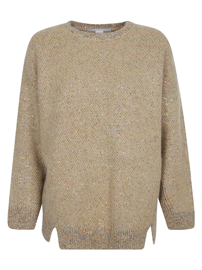 Stella McCartney Sequined Long Jumper - Camel