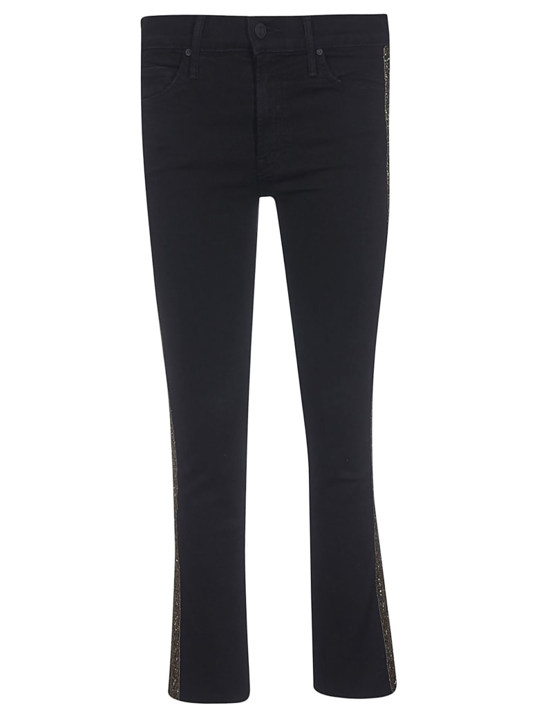 Mother Flared Trousers - Black