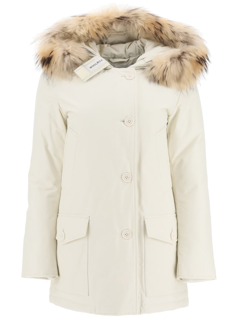 Woolrich Arctic Parka With Murmasky Fur - White