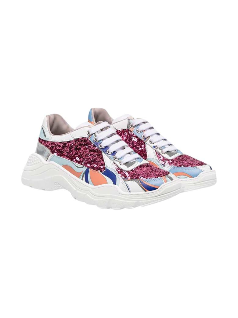 Emilio Pucci Multicolor Sneakers Teen - Unica