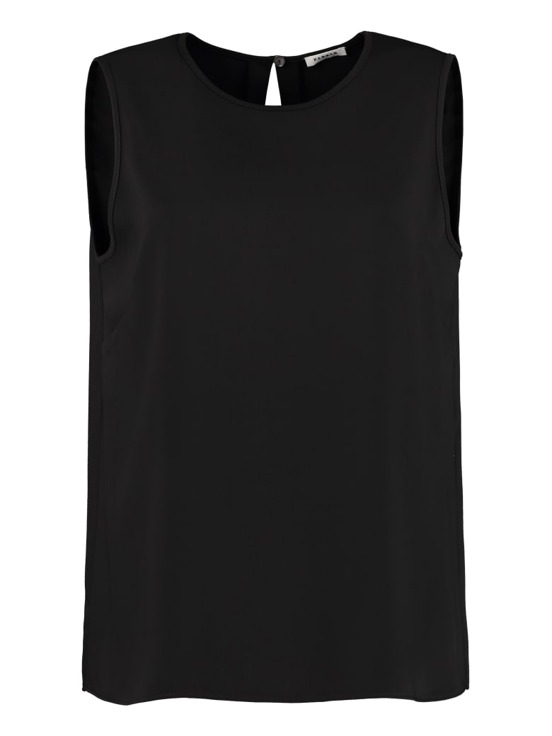 Parosh Sleeveless Top - black