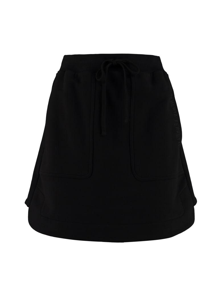 Alberta Ferretti Cotton Mini Skirt - black