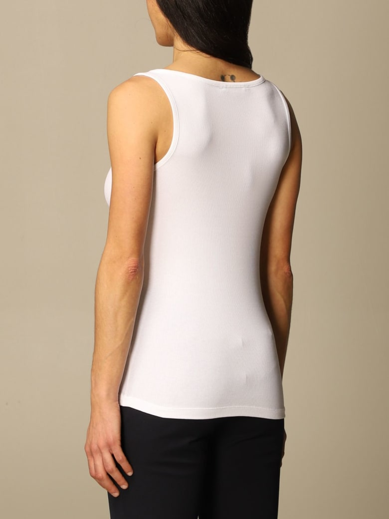Ralph Lauren Lauren Ralph Lauren Top Lauren Ralph Lauren Basic Tank Top In Stretch Cotton - White
