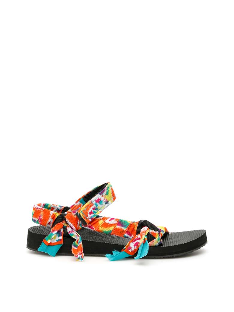 Arizona Love Tie-dye Trekky Sandals - TIE AND DYE (Green)