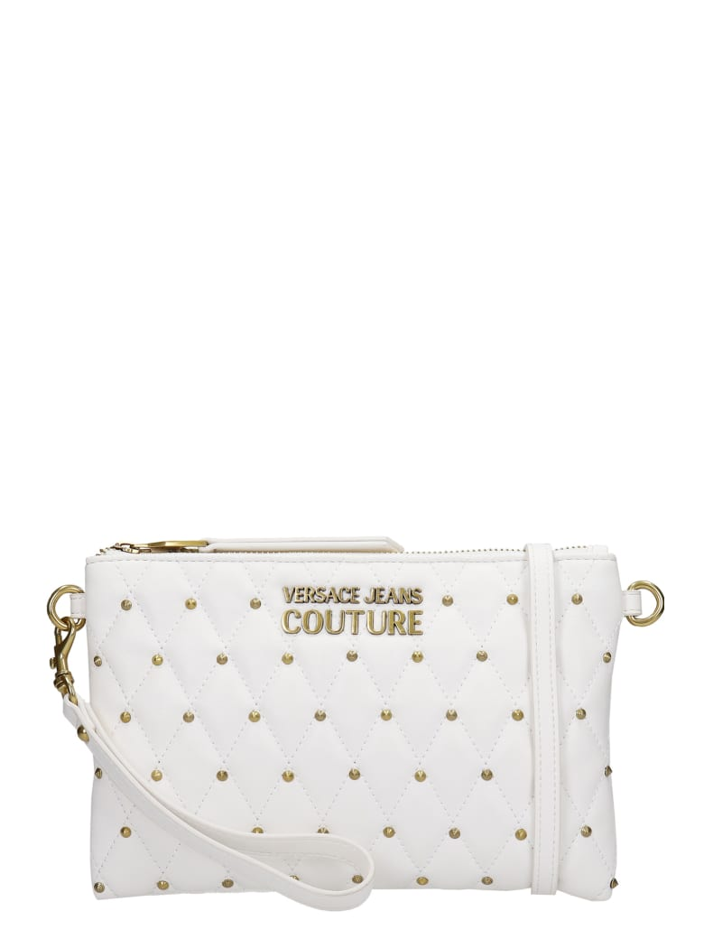 Versace Jeans Couture Clutch In White Leather - white