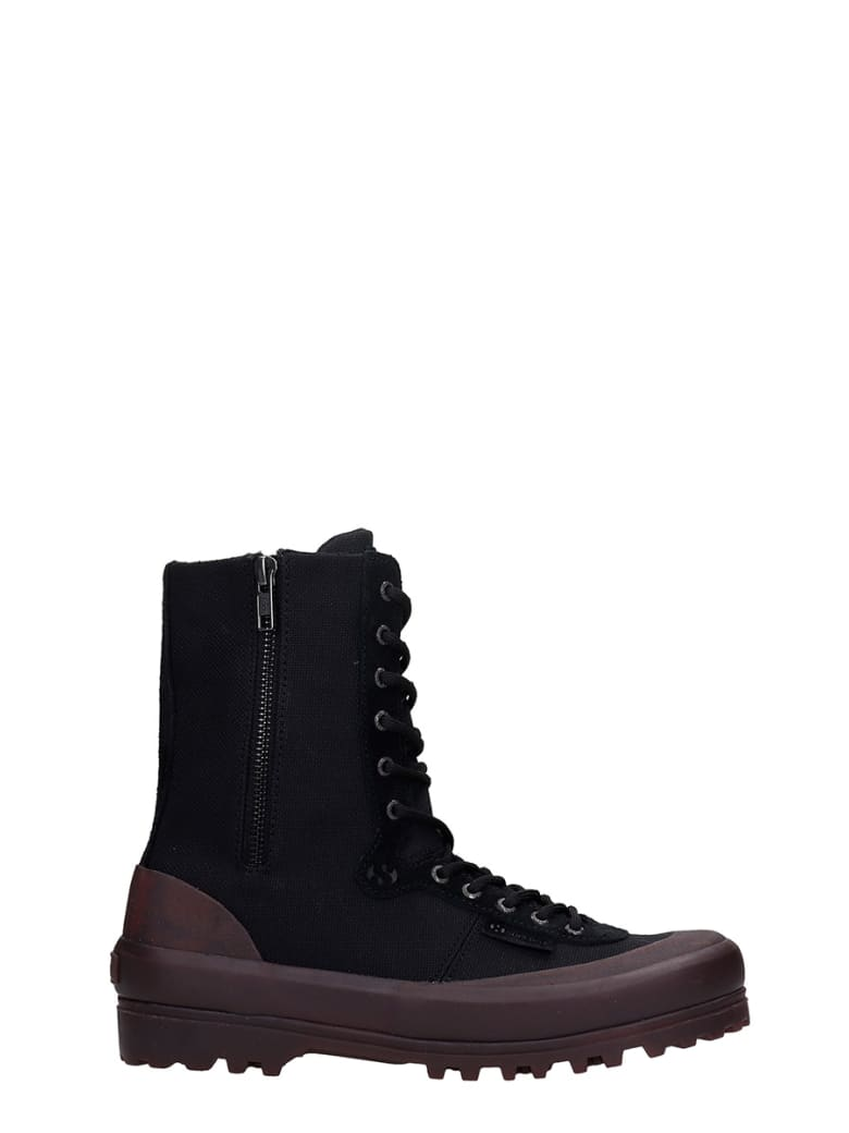 Superga Cotseu Sneakers In Black Canvas - black