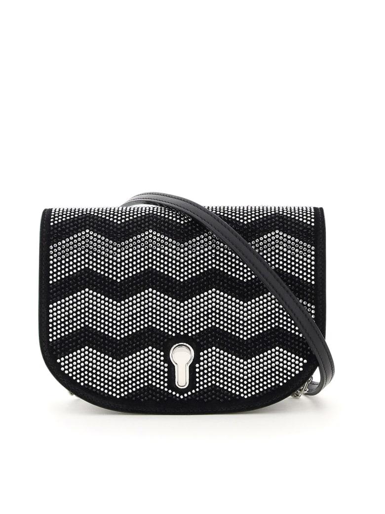 Bally Clayn Mini Shoulder Bag With Rhinestones - BLACK (Black)