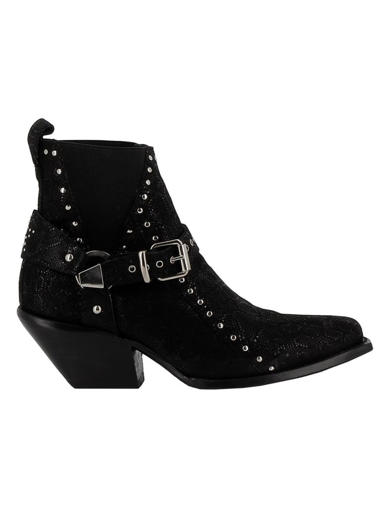 Mexicana Woman's Black Leather Ankle Boots - BLACK