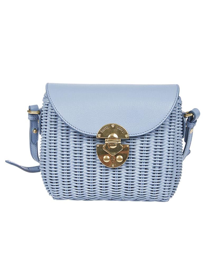 Miu Miu Basket Effect Shoulder Bag - Astral