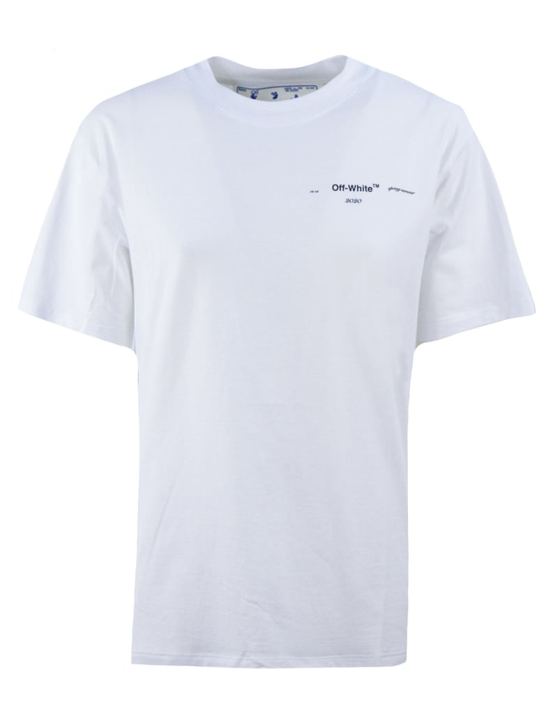 Off-White White Cotton T-shirt - Bianco