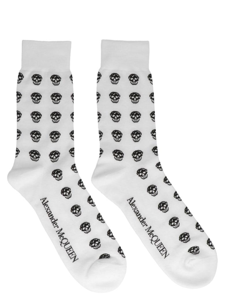 Alexander McQueen 'skull' Socks - Black&White