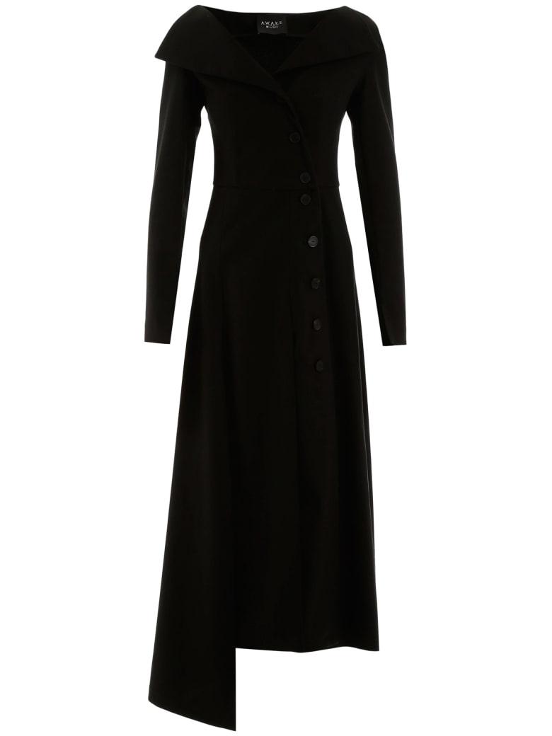 A.W.A.K.E. Mode Buttoned Dress - BLACK (Black)
