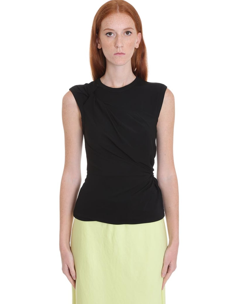 T by Alexander Wang Topwear In Black Viscose - black