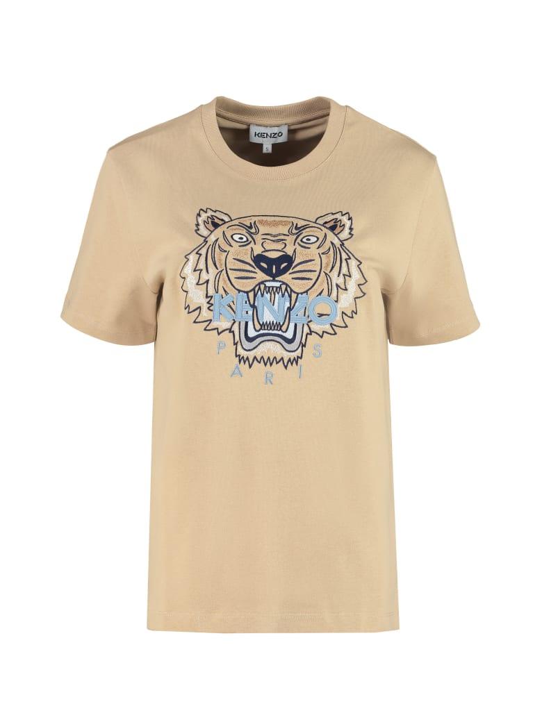 Kenzo Cotton Crew-neck T-shirt - Beige