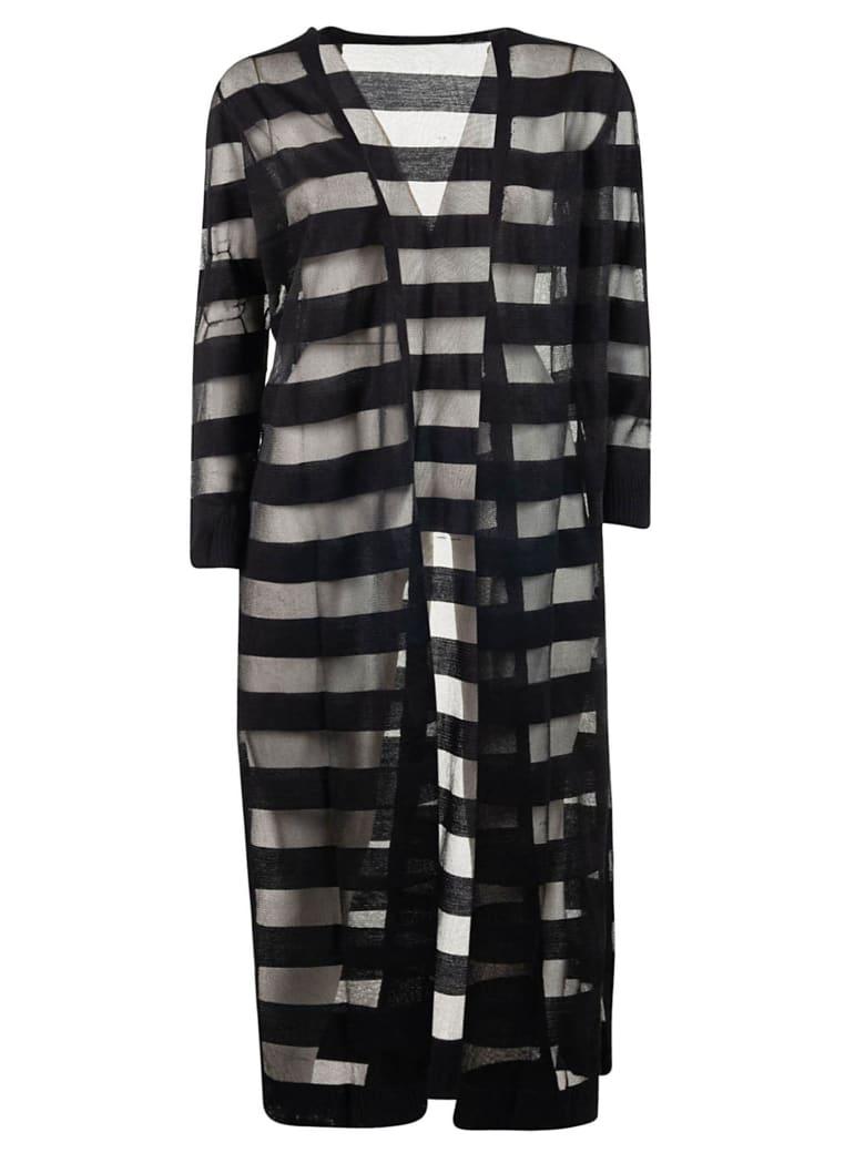 Armani Collezioni Striped Cardi-coat - Black