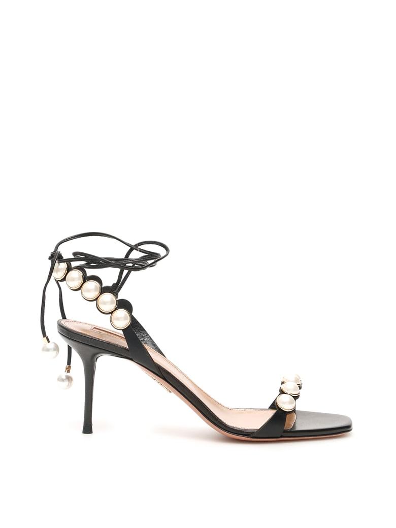 Aquazzura Mae 75 Sandals - BLACK (Black)