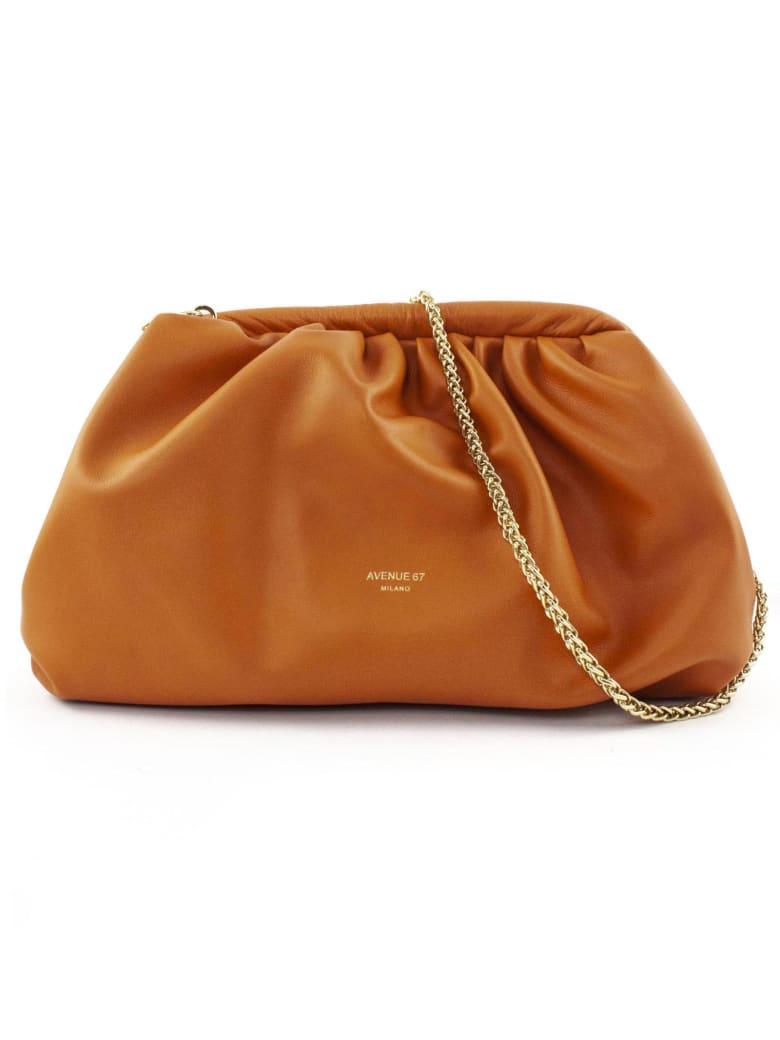 Avenue 67 Puffy Bag In Orange Leather - Arancio