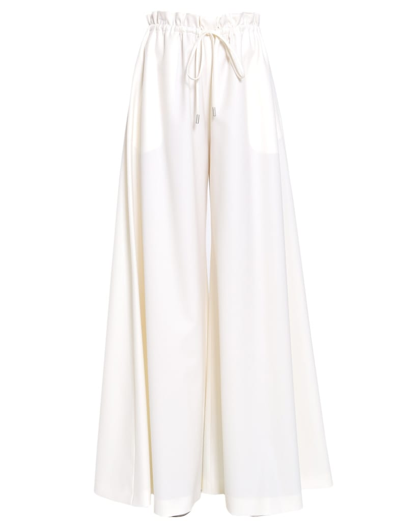 Sara Battaglia Trousers With Drawstring Fastening - BIANCO