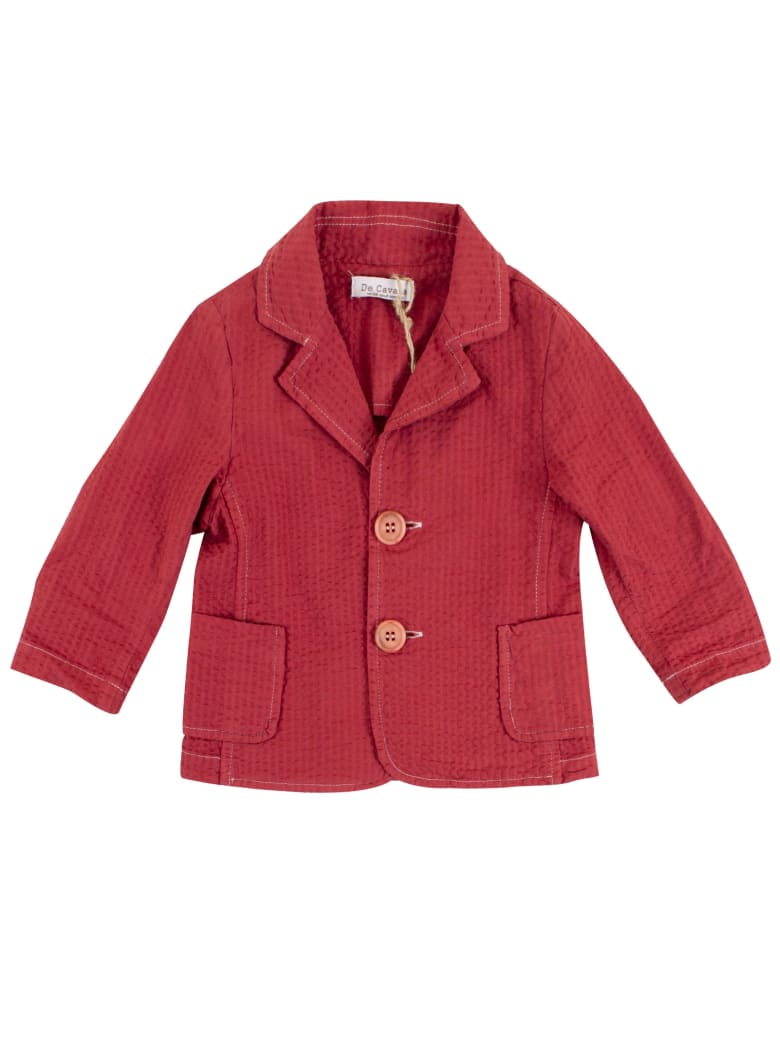 De Cavana Newborn Striped Jacket - Bordeaux