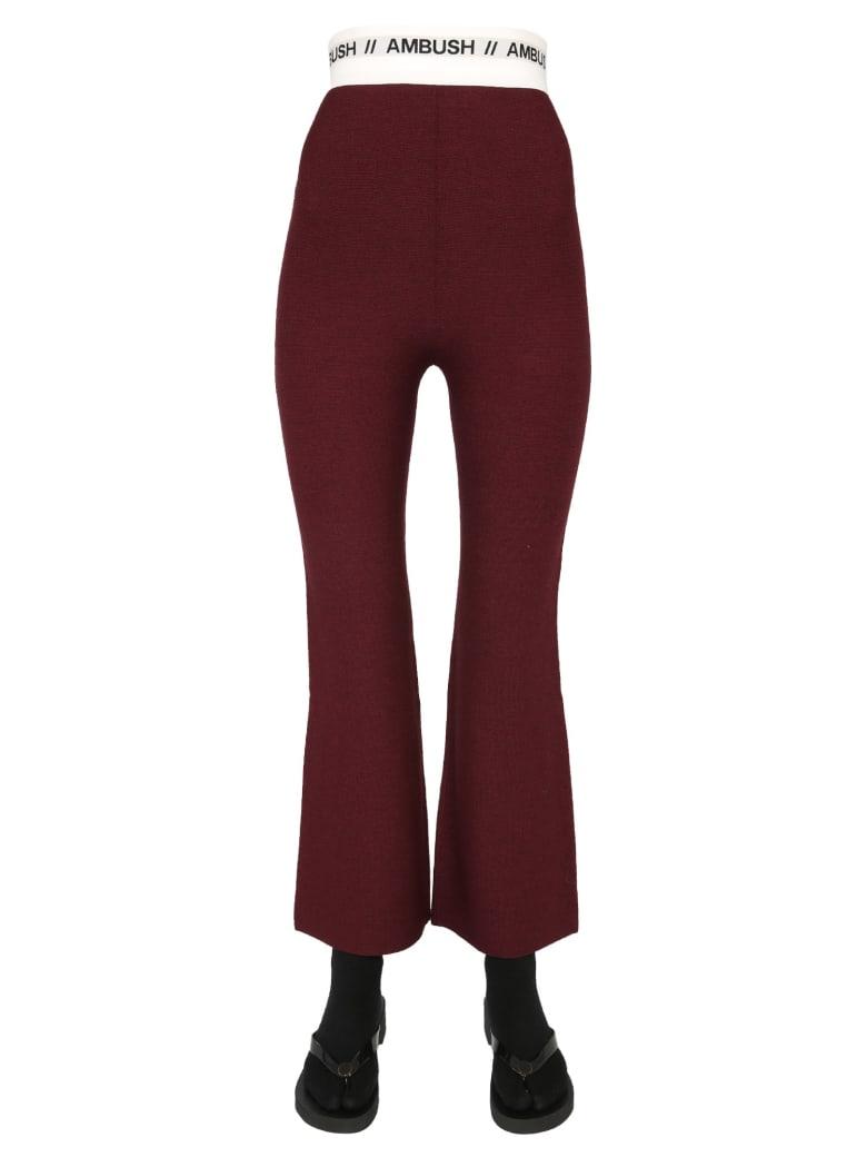 AMBUSH Trousers With Logo Band - BORDEAUX