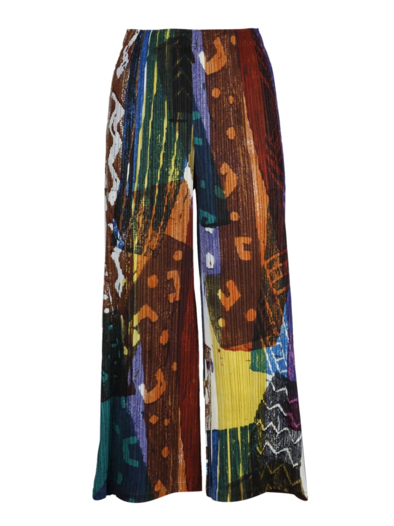 Pleats Please Issey Miyake Trousers - Multicolour