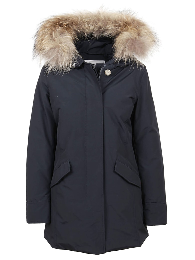 Woolrich Blue Cotton Padded Coat - Blue