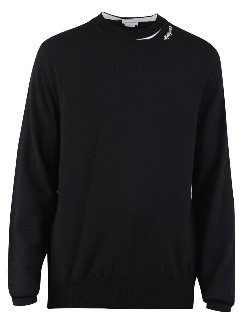 Alexander McQueen Branded Sweater - Black/ivory