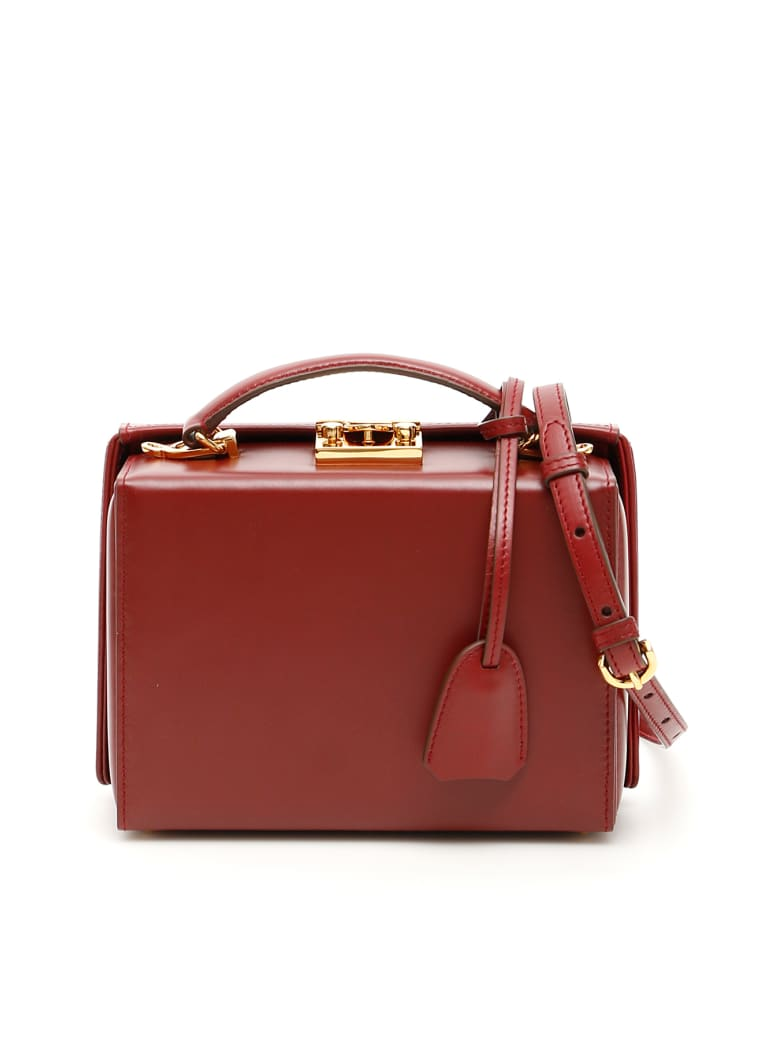 Mark Cross Grace Small Bag Caviar - BURGUNDY (Red)