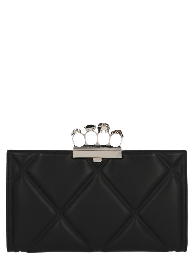 Alexander McQueen 'skull Four Ring' Bag - Black