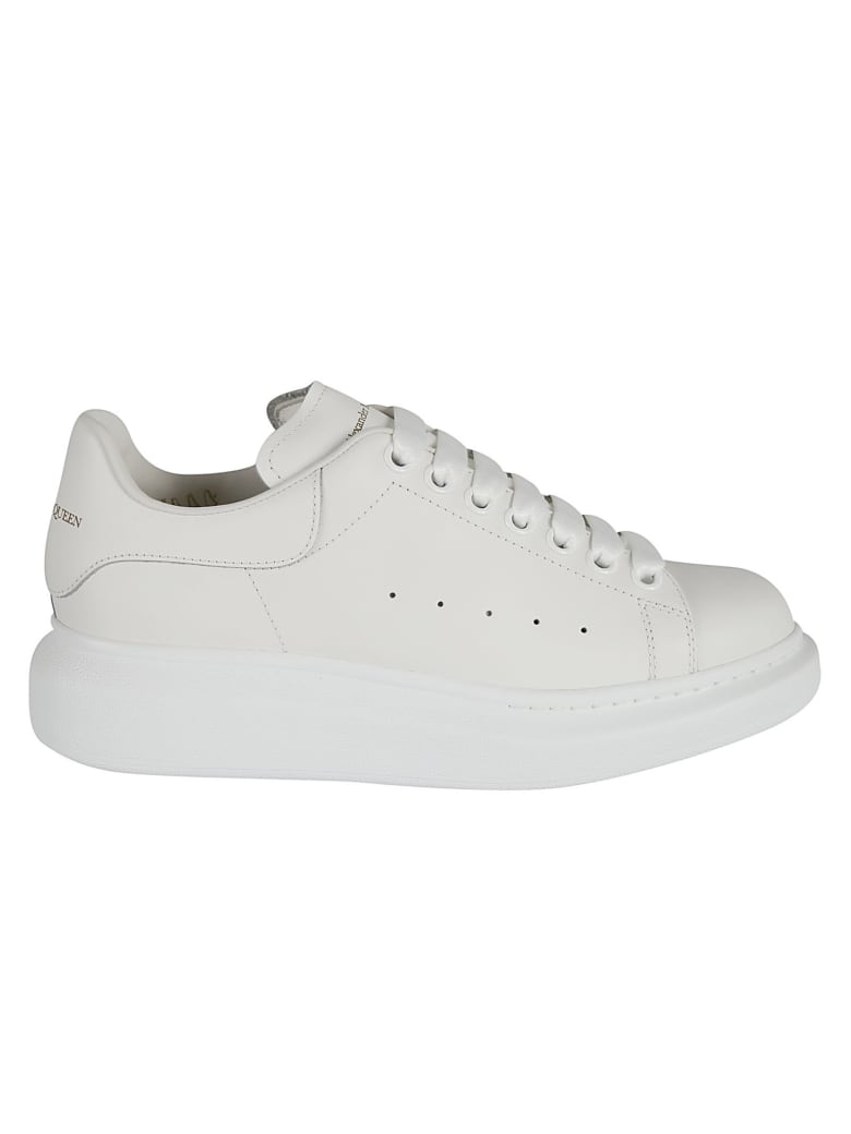 Alexander McQueen Perforated Logo Sneakers - Bianco