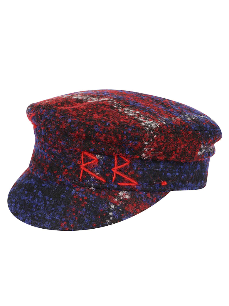 Ruslan Baginskiy Hat Checked Baker Boy - Multicolor Red