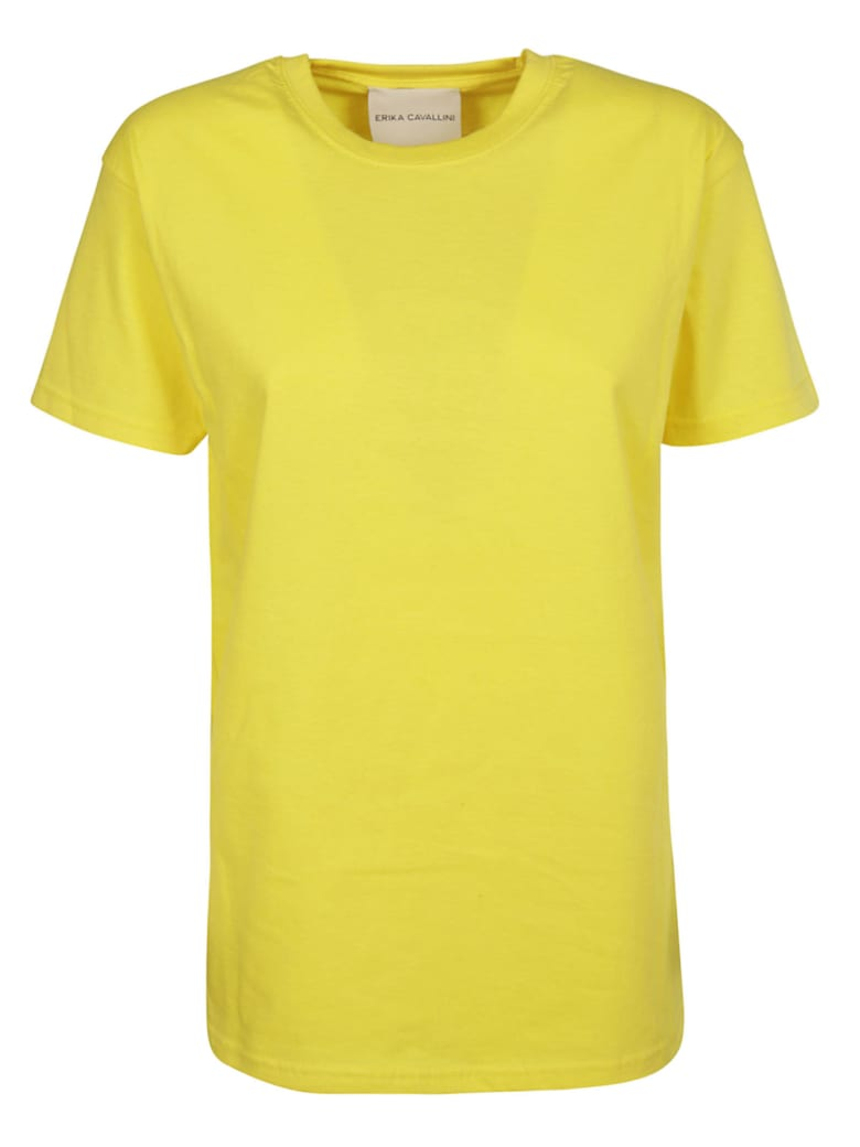 Erika Cavallini Print Detail T-Shirt - Yellow