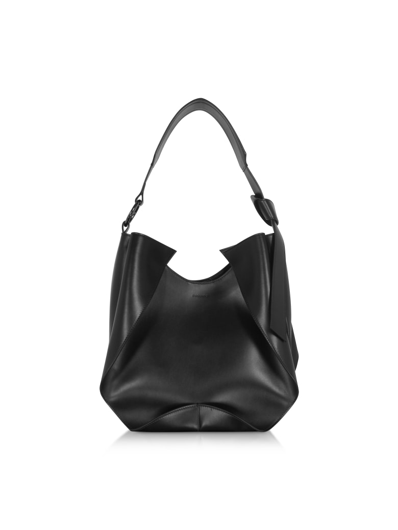 Giaquinto Giselle Leather Shoulder Bag - Black