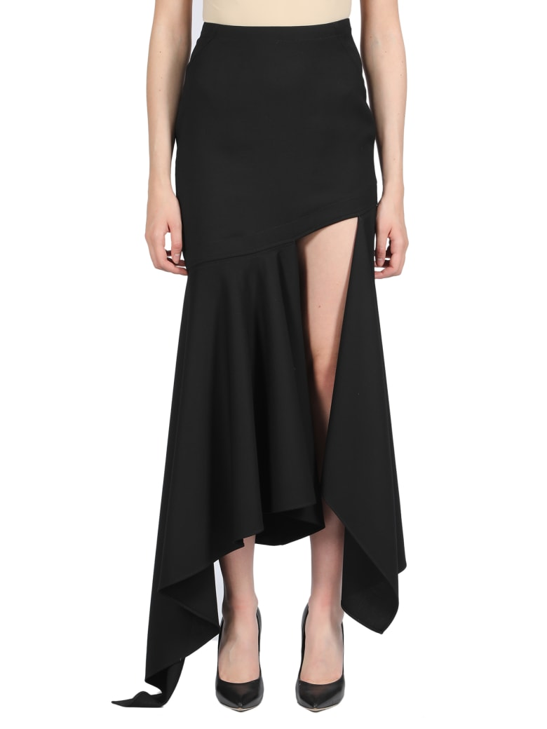 Thierry Mugler Asymmetric Long Skirt - Nero