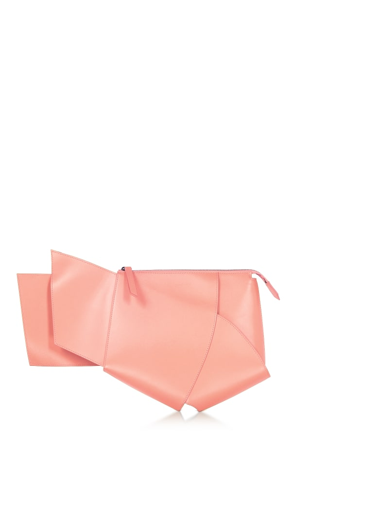 Giaquinto Ava Leather Clutch - Salmon