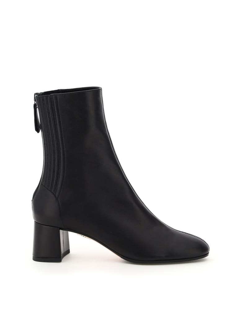 Aquazzura Saint Honore' 50 Ankle Boots - BLACK (Black)
