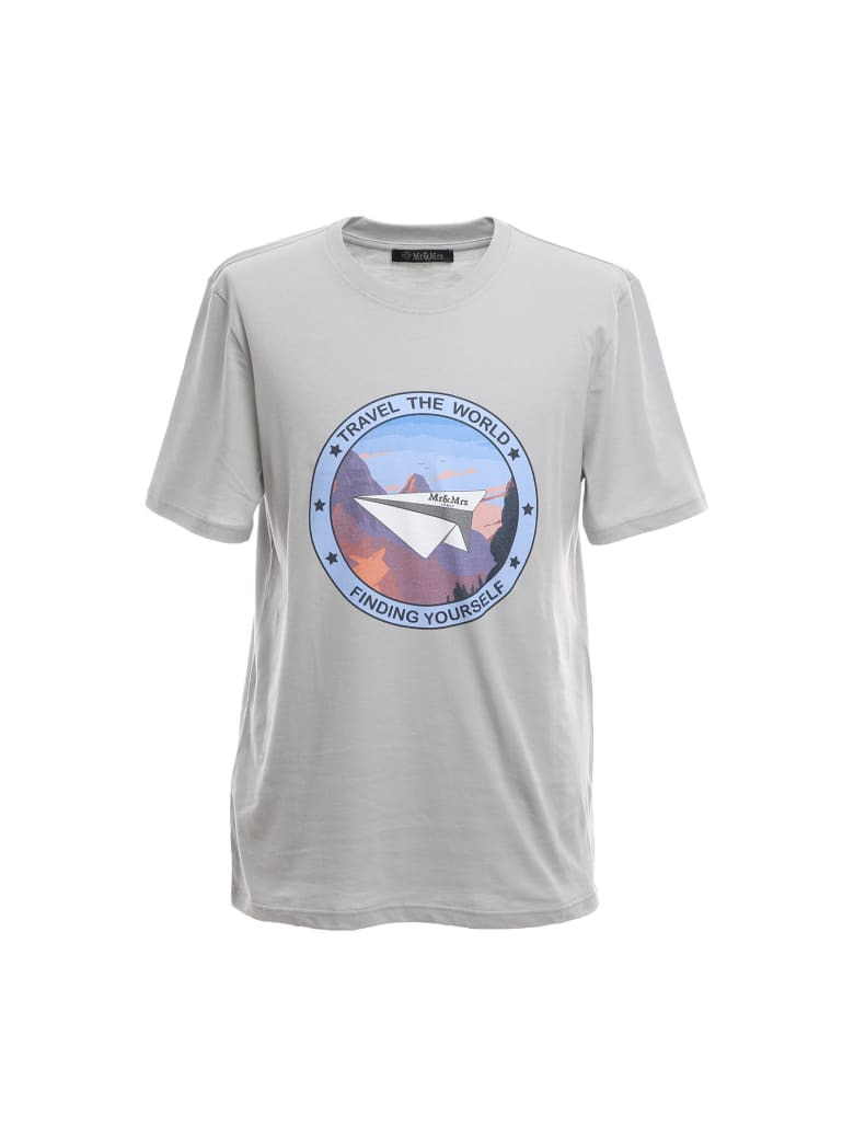 Mr & Mrs Italy Regular T-shirt With Statement Print - LONDON FOG