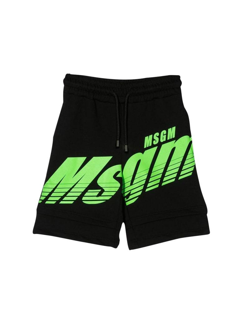 MSGM Kids Running Shorts - Nero