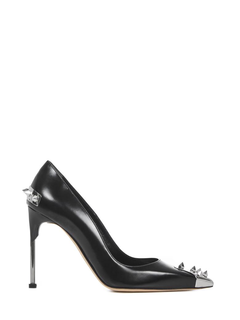 Alexander McQueen Punk Stud Leather Pumps - Black/silver