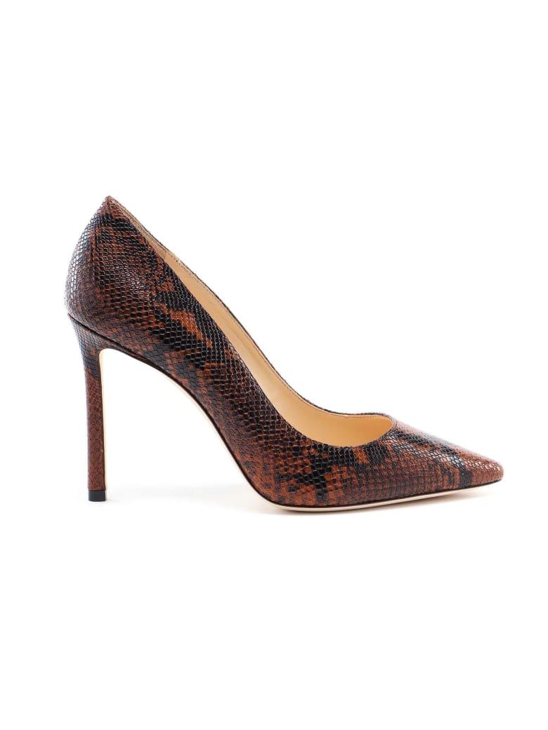Jimmy Choo Snake Printed Pump - Cuoio
