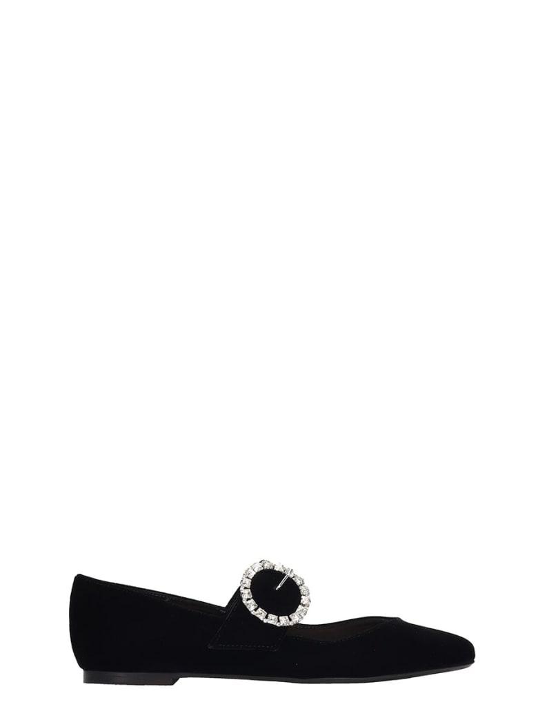 Fabio Rusconi Ballet Flats In Black Velvet - black