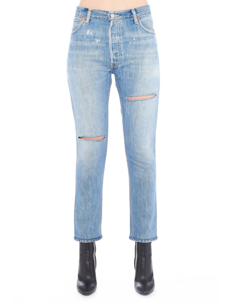 RE/DONE 'ripped' Jeans - Blue