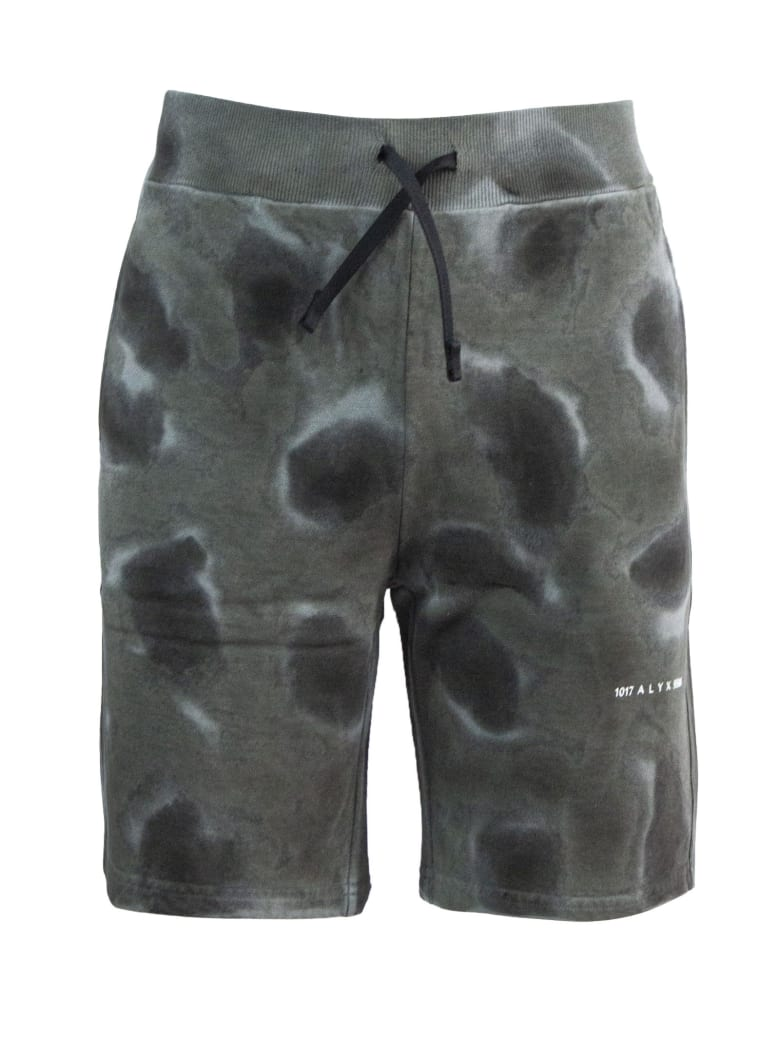 1017 ALYX 9SM Grey Cotton Shorts - Nero